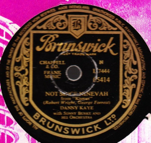 Danny Kaye - Night of many Nights - Brunswick 05414
